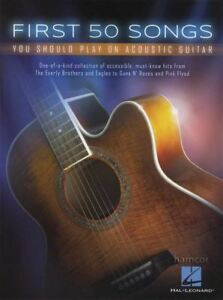 First 50 Songs You Should Play on Acoustic Guitar Music Book Chord Songbook