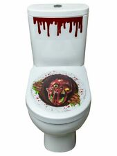 Adult Fancy Dress Halloween Funny Zombie Head Portal Toilet Seat Stickers Party