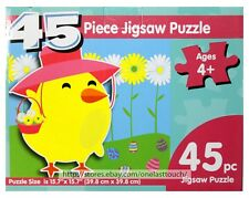 """MOMENTUM* 45pc JIGSAW PUZZLE Easter/Spring CHICK+EGGS+FLOWERS 15.7"""" x 15.7"""" NEW!"""