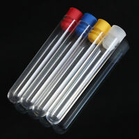 12mm Plastic Test Tube with Cap test tube container complete Gadget