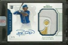 Raul Mondesi 2016 National Treasures Auto Patch #d /5 RC RPA Crown Patch Royals