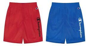 Champion Boy's Vertical Script Mesh Athletic Shorts (Red, Blue, S, M, L, XL)