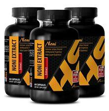 energy boost fat burner - NONI EXTRACT 500MG - brain memory vitamins - 3 Bottles