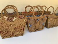 Rattan bag butterfly tote handbag handcrafted from Bali beach 🦋