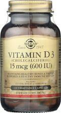 Solgar Vitamin D3 Cholecalciferol 600 IU 120 Vegetable Capsules