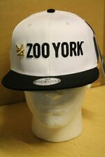 Zoo York Blanco/Negro Gorra/Gorro sombrero de Béisbol Pico Plana