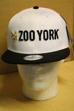 Zoo York White/Black Snapback Flat Peak Baseball Hat/Cap