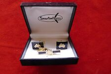 Vintage retro 50s Cufflinks tie pin set australia map box unused