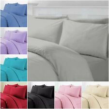 Thermal Flannelette Duvet Cover Fitted Bed Sheet Pillow Soft Brushed Cotton New
