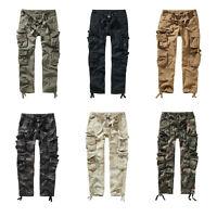 Brandit Pure Slim Fit Trouser 1016-2 black Vintage Hose Cargo schmales Bein