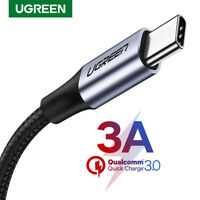 Ugreen USB C Type-C Data Sync Fast Charger Cable For Macbook Samsung S9 Gopro 6