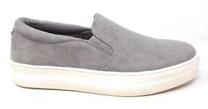 Madden Girl Women's Gemma Slip-On Flat Shoes Grey Suede Size 7.5 M US