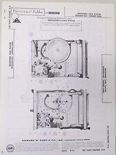Vtg Sams Photofact Folder Radio Parts Manual Bradford Tape Player 28A0449-001