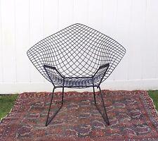 Vintage Knoll Bertoia Diamond Chair Black Mid Century Modern