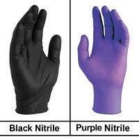 100Pcs Disposable Nitrile Gloves Powder Free Strong (Non Latex Non Vinyl) Striki
