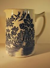 Victorian Blue and White Willow Pattern Jug Pitcher       #9415