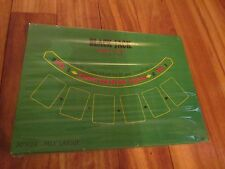 Authentic Blackjack Green Felt Table Top Layout Las Vegas Style Casino Home Game