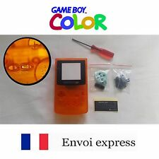Coque GAME BOY color crystal Orange NEUF NEW + tournevis triwing-étui shell case