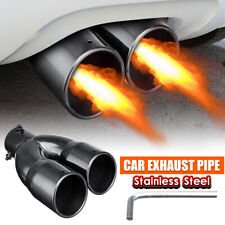 63mm 2.5'' Inlet Dual Outlet Universal Car Rear Muffler Tail Exhaust Tip Pipe