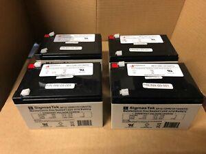 Lot of 4 - Hubbell / Dual Lite 93068259 SigmaTek SP12-12HR Replacement Batteries