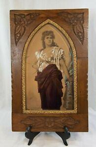 Antique Greek Goddess MEDEA Framed Artwork by Nathaniel Sichel 1883 (DAS)