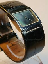 Calvin Klein Swiss Made Black Mother Of Pearl Dial Ladies Watch