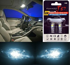 LED 3030 Light White 6000K 168 Two Bulbs License Plate Tag Upgrade OE Philips