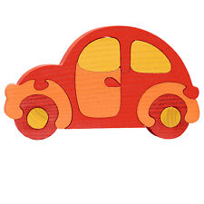 Wooden Car Puzzle - 11 Pieces - Age 3+