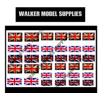 1/72 WW2 British flags on 100% cotton canvas. model/diorama military (1)