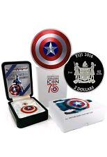 2 oz Silver 999 Captain America 75th Anniversary