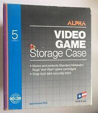 5 Alpha Video Game Storage Protective Cases For Nintendo Sega Atari Cartridges