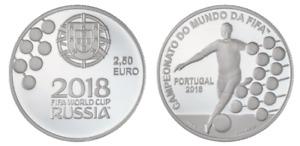 PORTUGAL 2018 2,5 EURO € COUPE DU MONDE RUSSIE PIECE NEUVE UNC