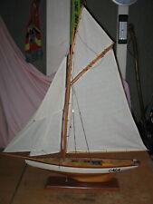Historisches Modell Segelboot , Segelschiff , Segeljacht Stand-Modell