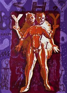 Shaike SNIR Why Y Shy?-Original Signed Screenprint, Philosophy, Alchemy, Pop Art