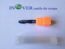 6mm Fraise Carbure Monobloc Hémisphérique 2 Dents Queue 6mm Revêtue TIALN HRC45
