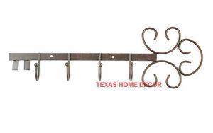 Key Shaped Key Rack Metal Rustic Finish Wall Mounted Hanger Light Weight