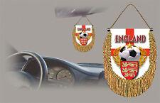 ENGLAND SOCCER FLAG CAR MINI BANNER, PENNANT