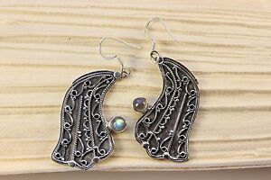 Labradorite Earrings IN 925 Silver Gems (Earrings, Unique, Vintage, Noble)