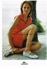 PUBLICITE ADVERTISING  2004  LACOSTE  collection chaussures