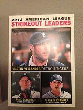 2013 Topps Heritage Leaders K's Verlander Scherzer Hernandez Tigers Mariners 6