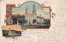 STE ANNE DE BEAUPRÉ Quebec Canada 1905 Montreal Import Co. Carte Type Pionnière