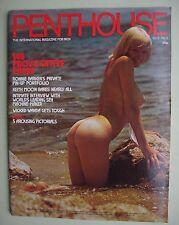 VINTAGE MAGAZINE PENTHOUSE UK 1974 VOL 9 N° 8 MISS SHARON  LONGWORTH - RARE -TBE