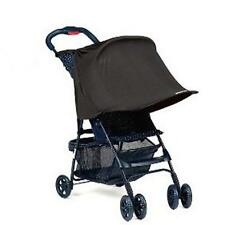 Black Infant Rayshade Rain/ UV Sun Shade Canopy Extender for Single Strollers LJ