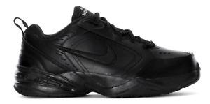 Nike Air Monarch IV 4 Men's Shoes Sneakers  Walking Triple Black Free Shipping