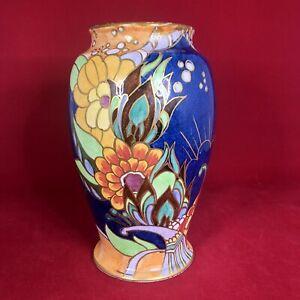 """Excellent Royal Winton Grimwades Vase Base— 8.5"""" Sunburst 2505 Lustre c.1930's"""