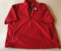 NEW Polo Ralph Lauren Pullover Mens Large Golf Red Windbreaker Resistant Pack