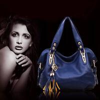 New Womens Ladies Faux Leather Shoulder Bag Satchel Cross Body Tote Handbag Hobo