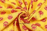 Yellow Dressmaking Rayon Fabric 44 Inches Wide Crafting Sewing Fabrics By 10 YD