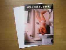 Blank Blague Drôle Humerous Carte de vœux la vie est comme un U Bend... (783)