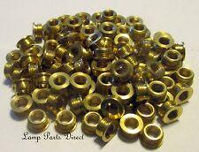(Lot of 100) Brass Shoulder Reducers 1/8M x 1/4-27F